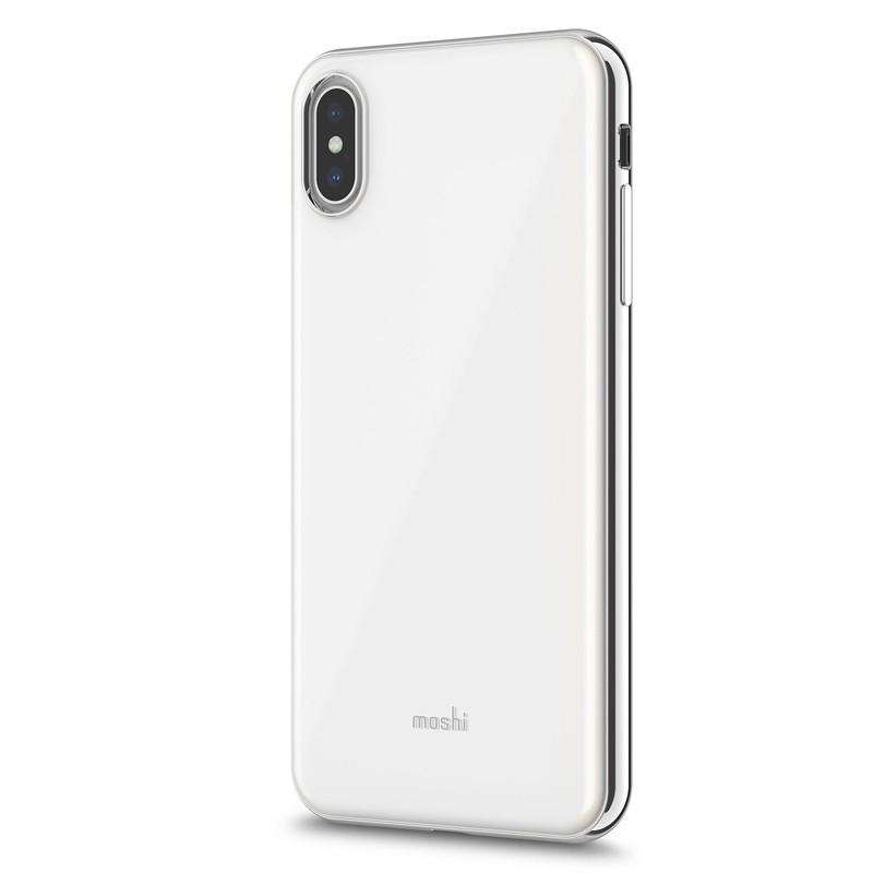 Moshi iGlaze iPhone XS Max Hoesje Pearl White 02