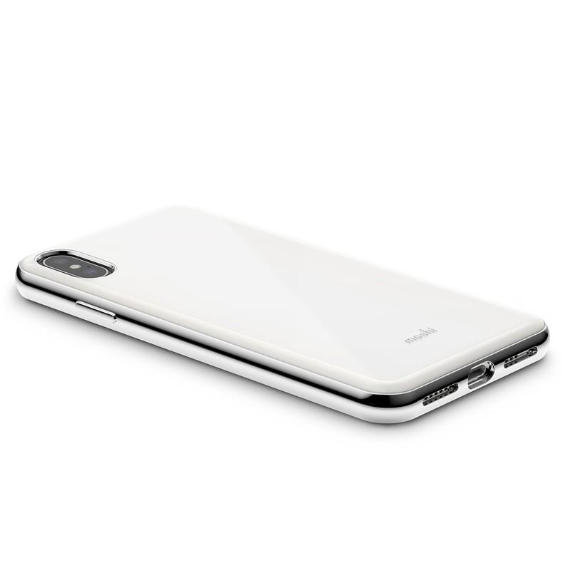 Moshi iGlaze iPhone XS Max Hoesje Pearl White 04