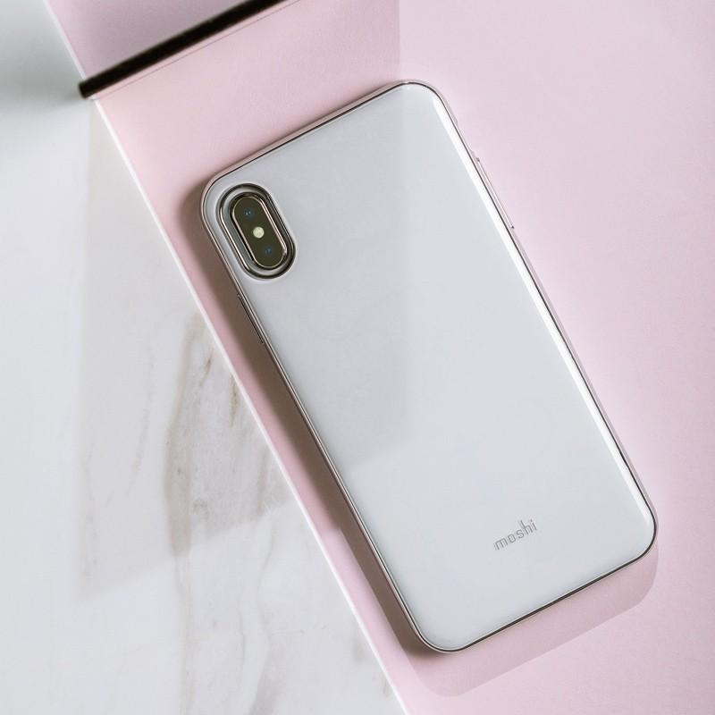 Moshi iGlaze iPhone XS Max Hoesje Pearl White 05