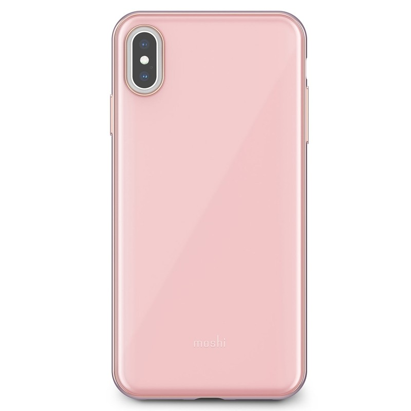 Moshi iGlaze iPhone XS Max Hoesje Taupe Pink 01
