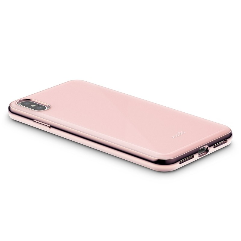 Moshi iGlaze iPhone XS Max Hoesje Taupe Pink 04