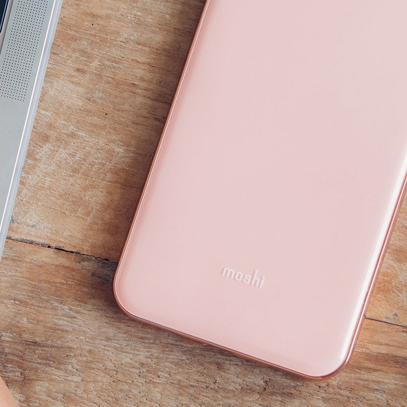 Moshi iGlaze iPhone XS Max Hoesje Taupe Pink 06