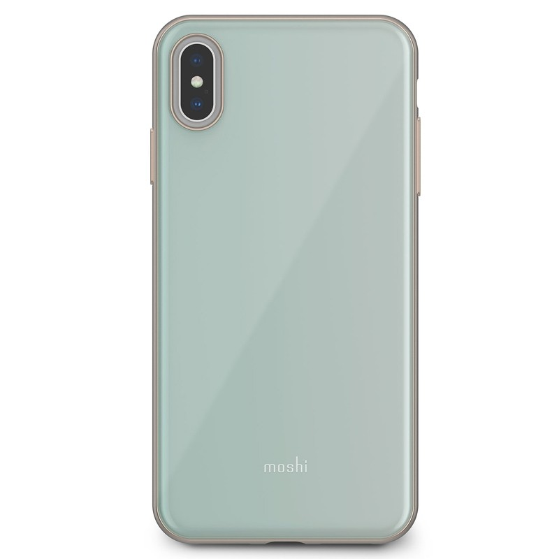 Moshi iGlaze iPhone XS Max Hoesje Powder Blue 01