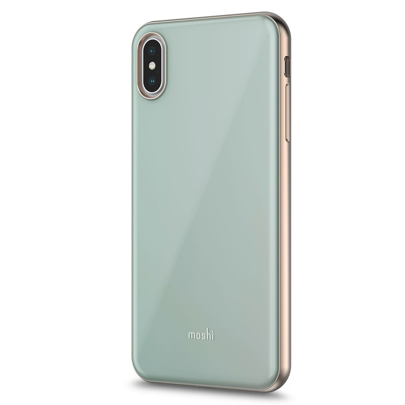 Moshi iGlaze iPhone XS Max Hoesje Powder Blue 02