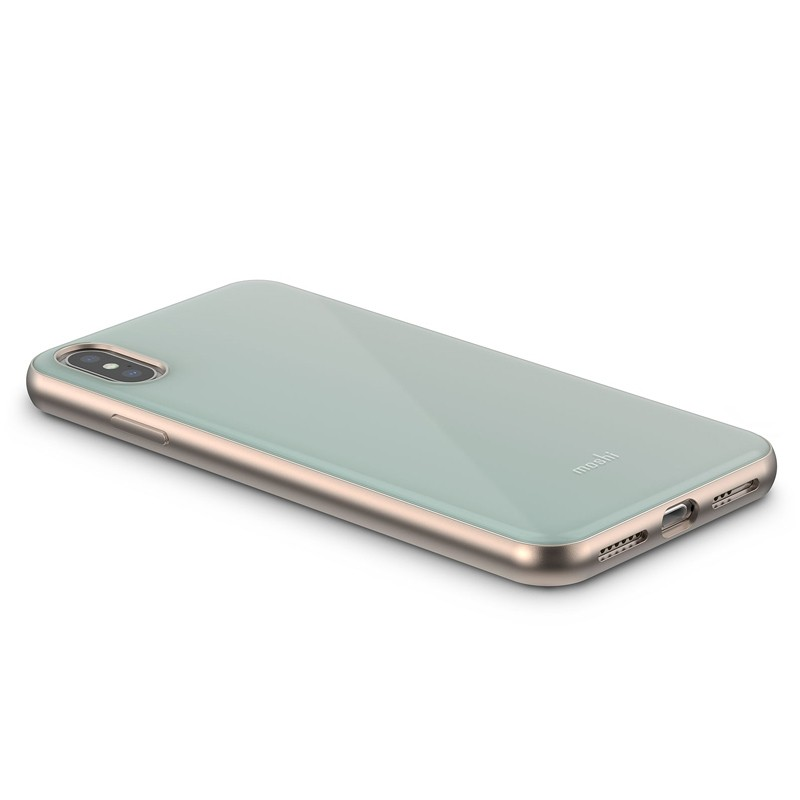 Moshi iGlaze iPhone XS Max Hoesje Powder Blue 04