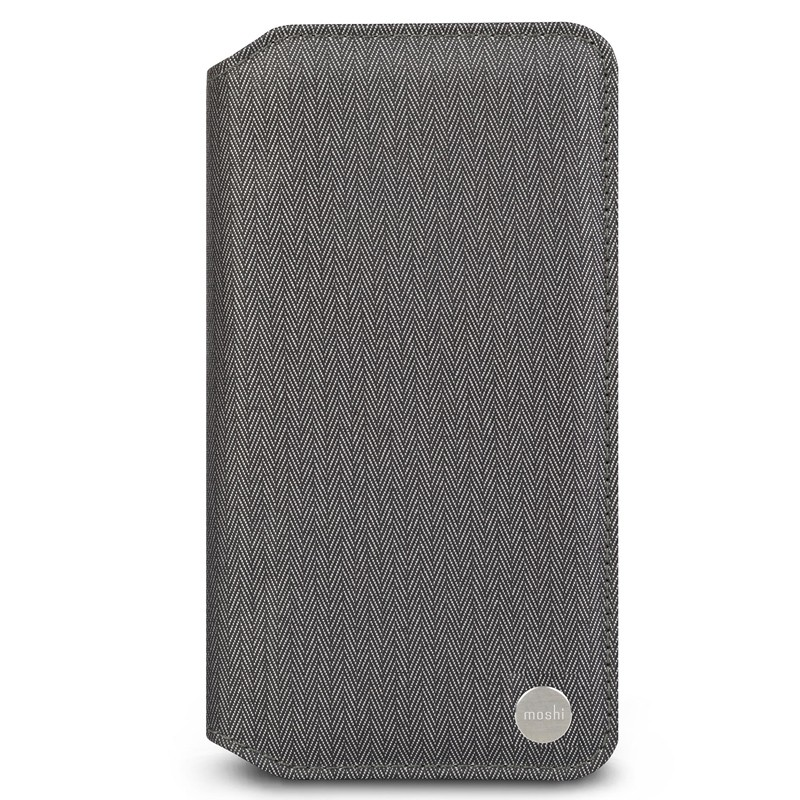 Moshi iGlaze iPhone XS Max Hoesje Herringbone Grey 01