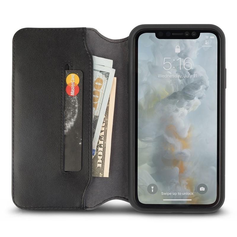 Moshi iGlaze iPhone XS Max Hoesje Charcoal Black 03