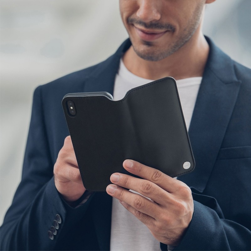 Moshi iGlaze iPhone XS Max Hoesje Charcoal Black 04