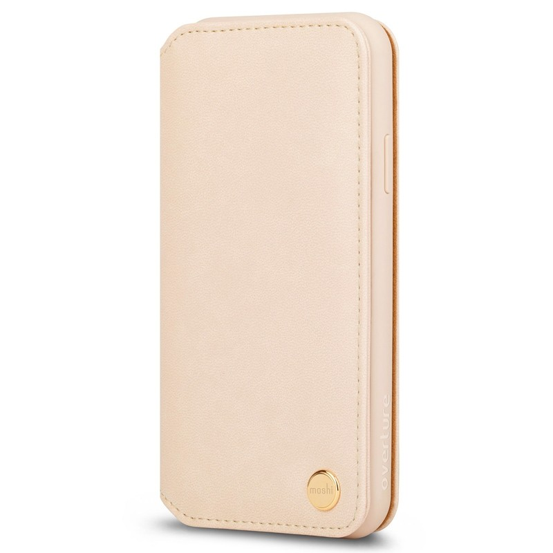 Moshi Overture Wallet Hoes iPhone XR Beige 02