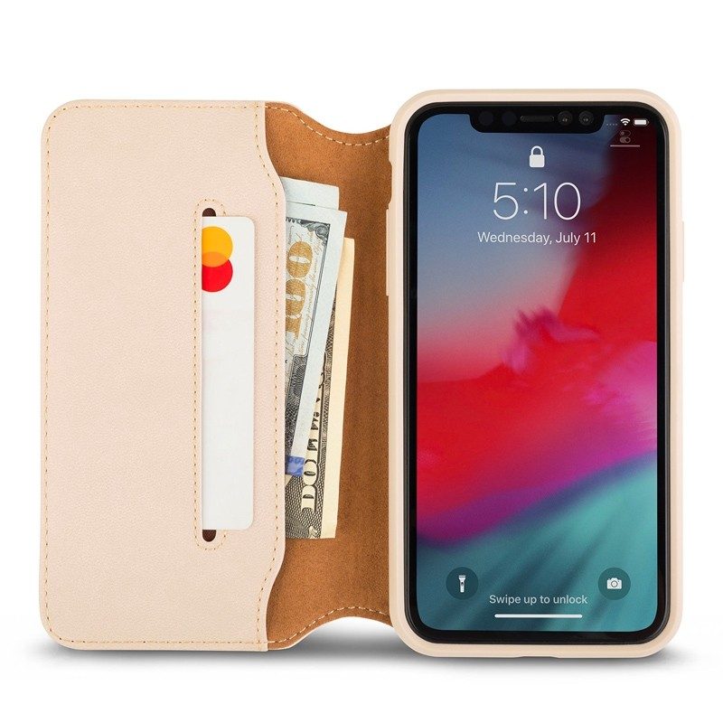 Moshi Overture Wallet Hoes iPhone XR Beige 03