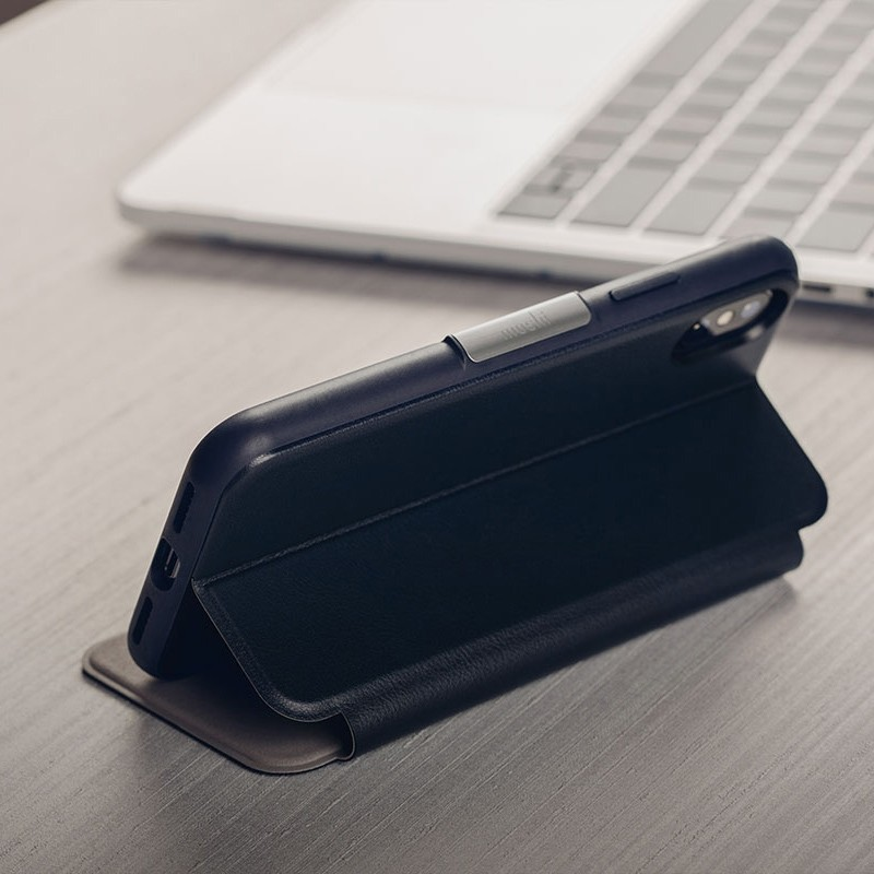 Moshi SenseCover iPhone XS Max Hoesje Midnight Blue 06