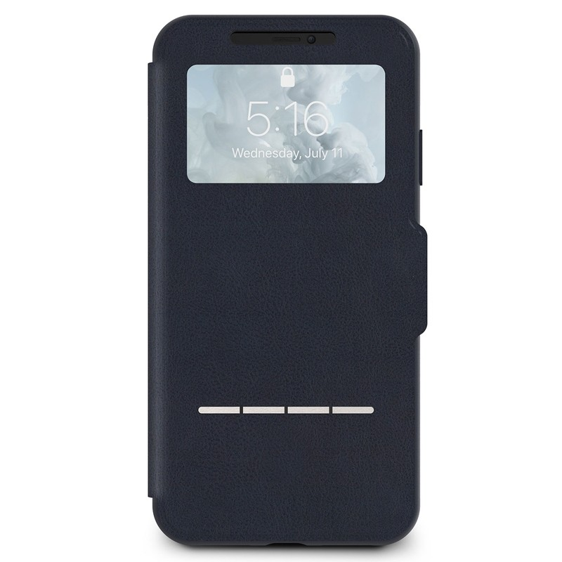 Moshi SenseCover iPhone XS Max Hoesje Midnight Blue 01