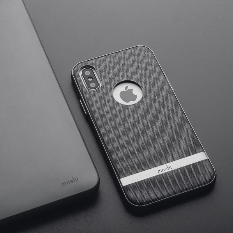Moshi Vesta iPhone X/Xs Herringbone Gray - 5