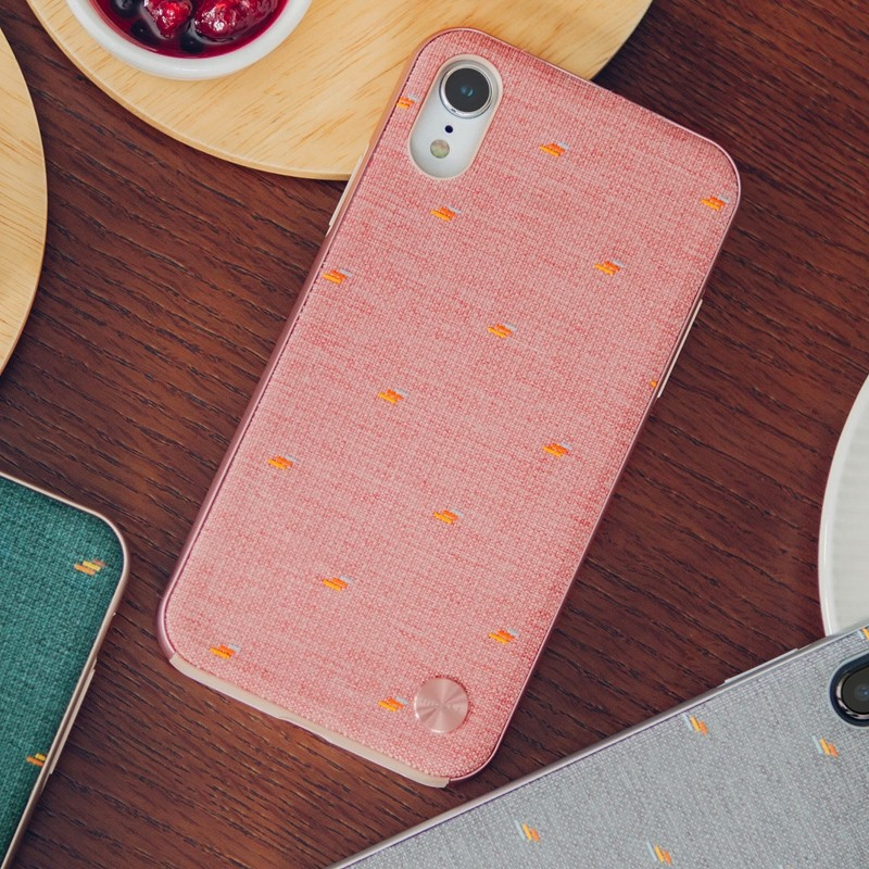 Moshi Overture Wallet Hoes iPhone XR Macaron Pink 05