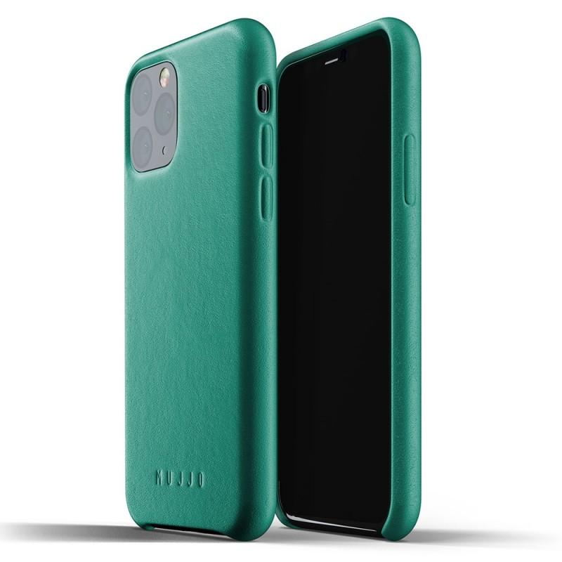 Mujjo Full Leather Case iPhone 11 Pro alpine green - 1