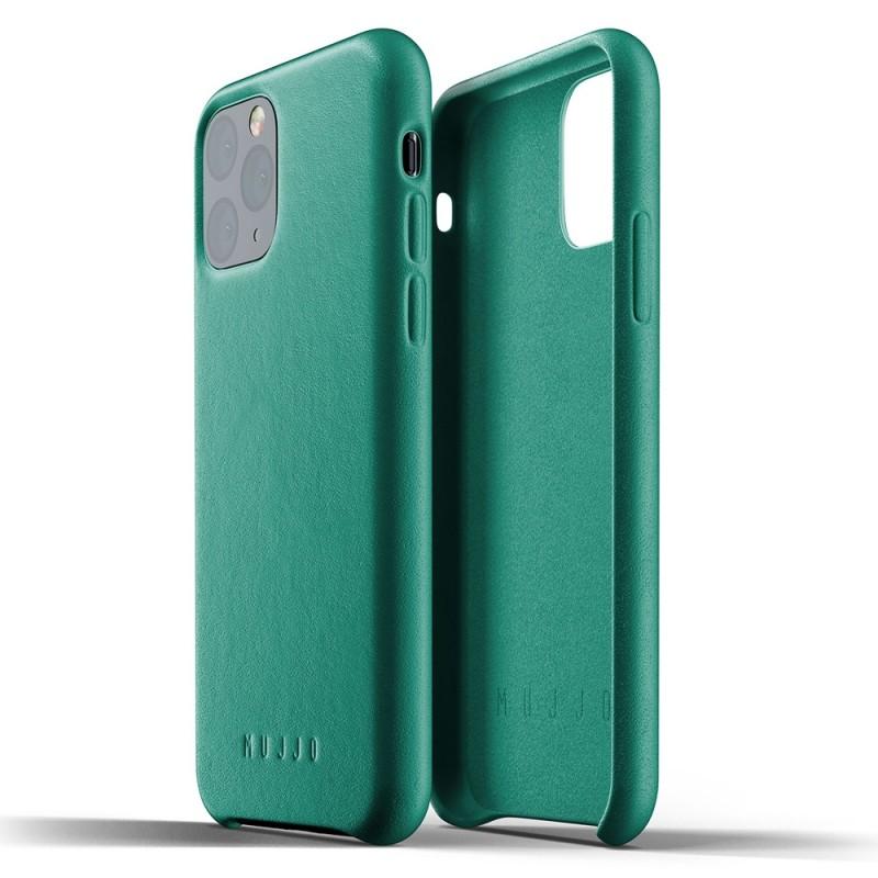 Mujjo Full Leather Case iPhone 11 Pro alpine green - 2