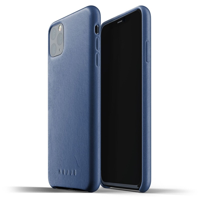 Mujjo Full Leather Case iPhone 11 Pro Max monaco blue - 1