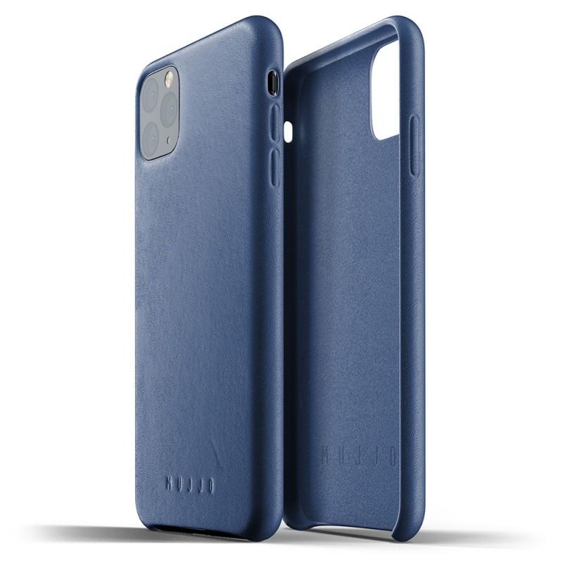 Mujjo Full Leather Case iPhone 11 Pro Max monaco blue - 2