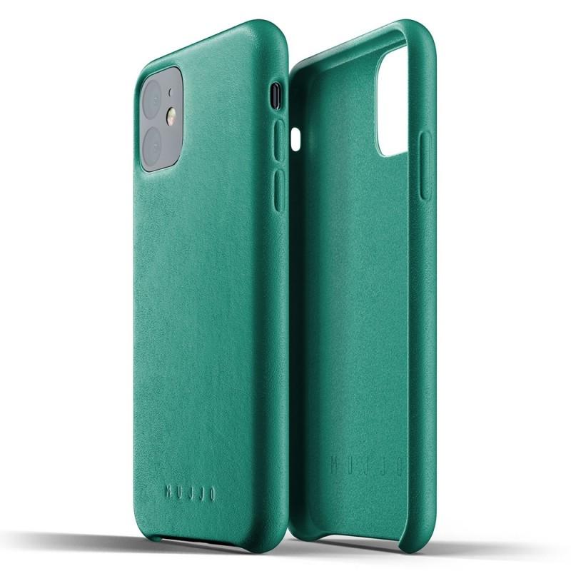 Mujjo Full Leather Case iPhone 11 alpine green - 2