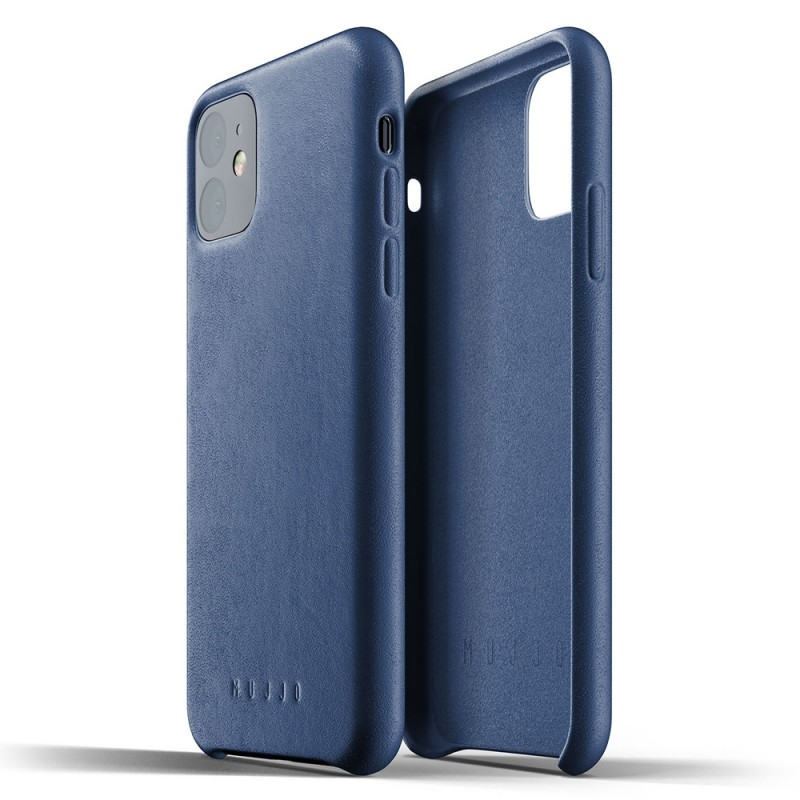Mujjo Full Leather Case iPhone 11 monaco blue - 2
