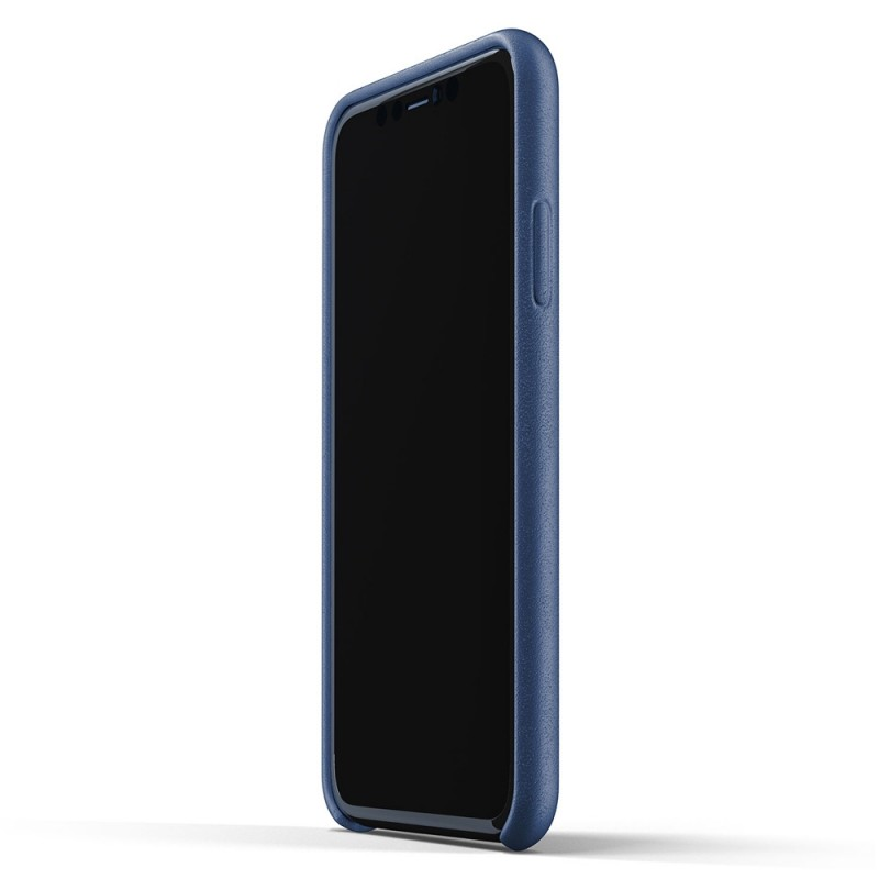 Mujjo Full Leather Case iPhone 11 monaco blue - 4