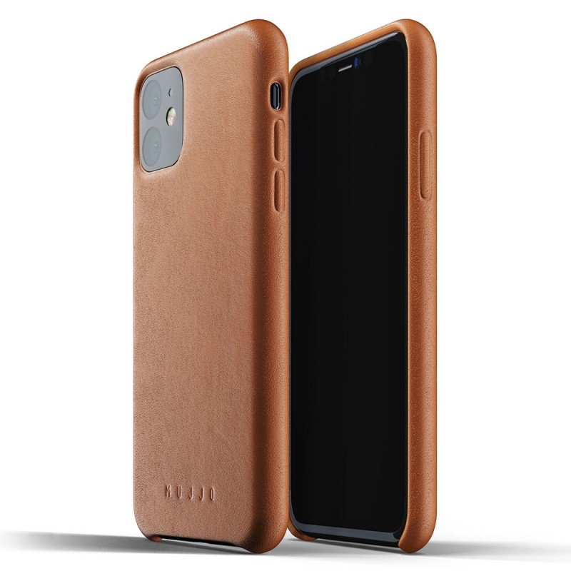 Mujjo Full Leather Case iPhone 11 bruin - 1