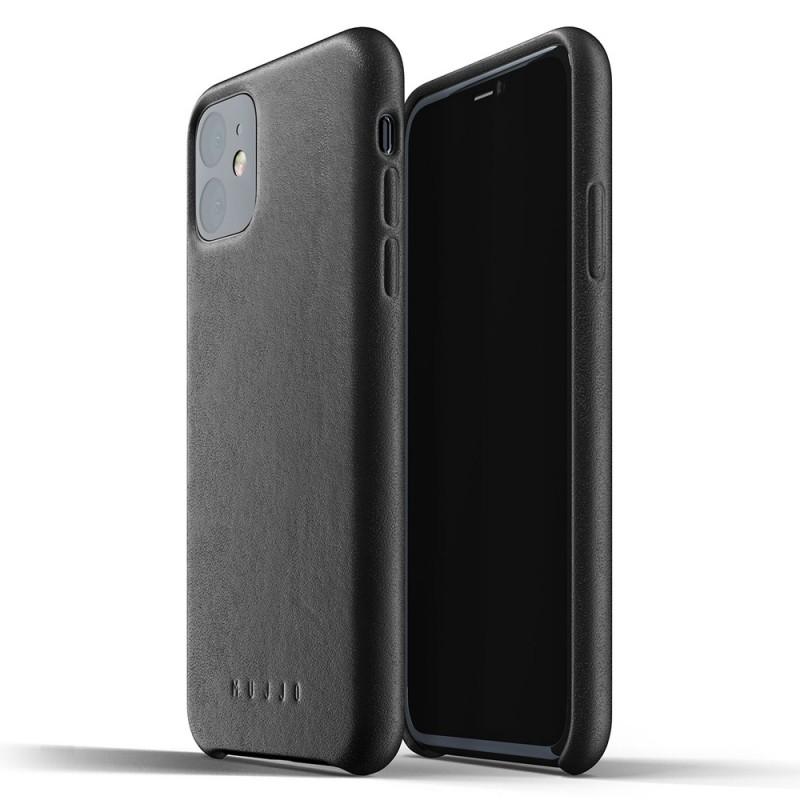Mujjo Full Leather Case iPhone 11 zwart - 1
