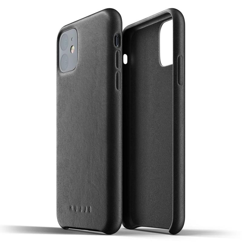 Mujjo Full Leather Case iPhone 11 zwart - 2