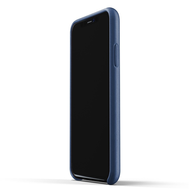 Mujjo Full Leather iPhone XR Case Blauw 02