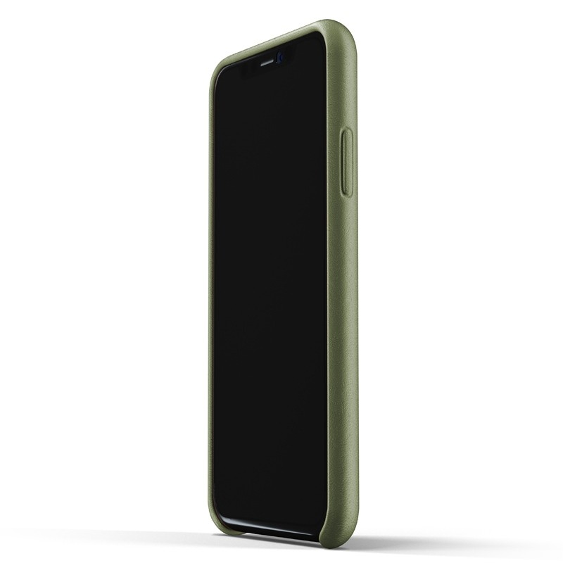 Mujjo Full Leather iPhone XR Case Olive 02