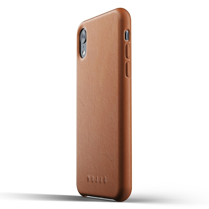 Mujjo Full Leather iPhone XR Case Tan Bruin 04