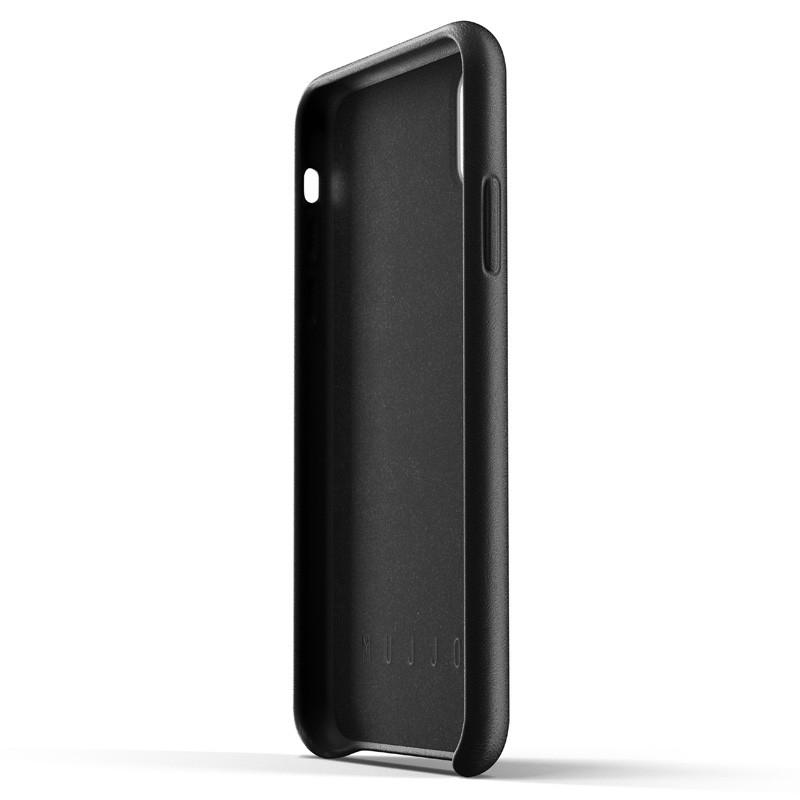 Mujjo Full Leather iPhone XR Case Zwart 03