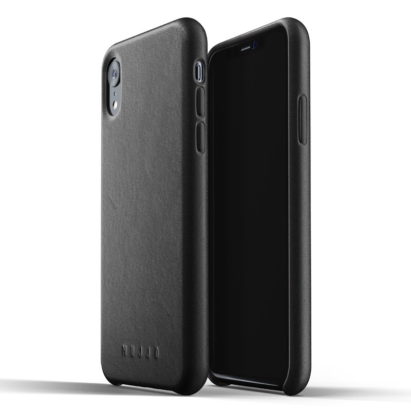 Mujjo Full Leather iPhone XR Case Zwart 01
