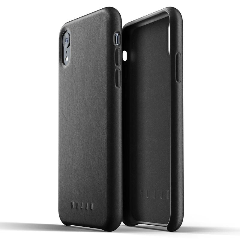 Mujjo Full Leather iPhone XR Case Zwart 05