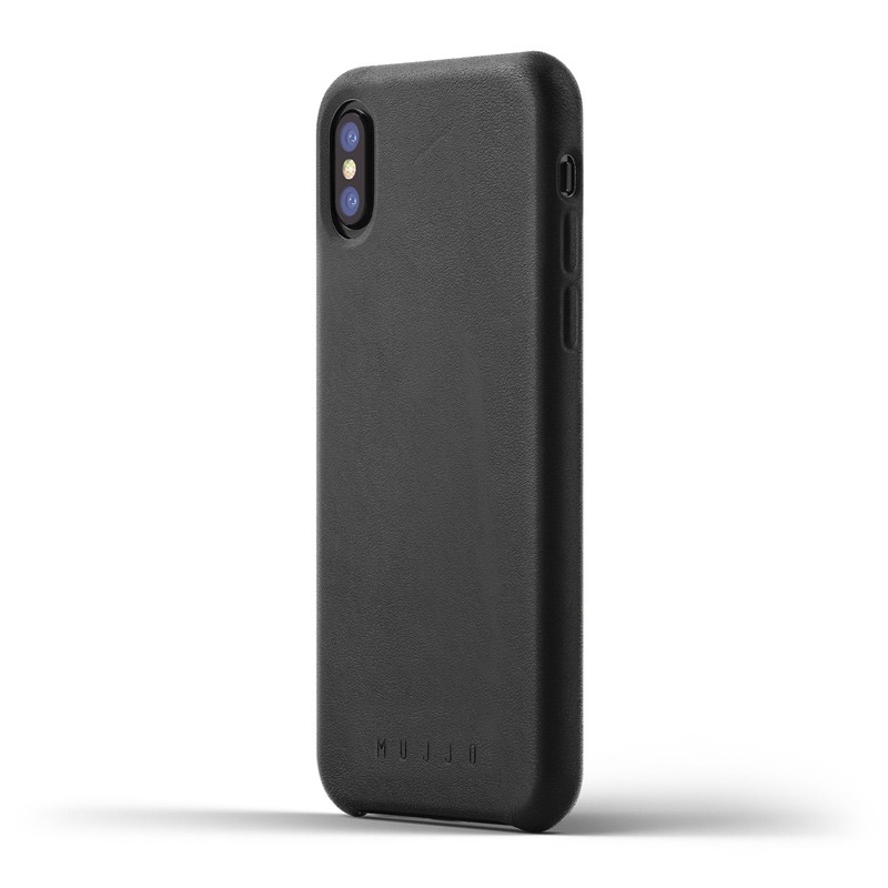 Mujjo - Full Leather Case iPhone X/Xs Black 01