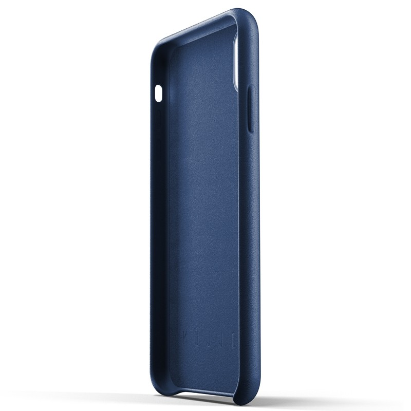 Mujjo Full Leather Case iPhone XS Max blauw 05