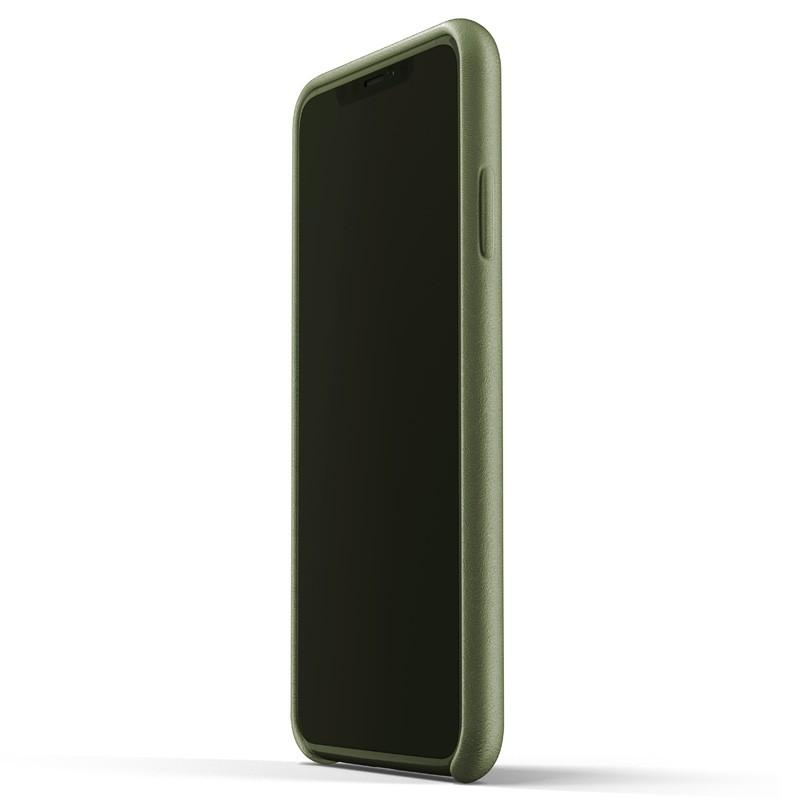 Mujjo Full Leather Case iPhone XS Max olijfgroen 02