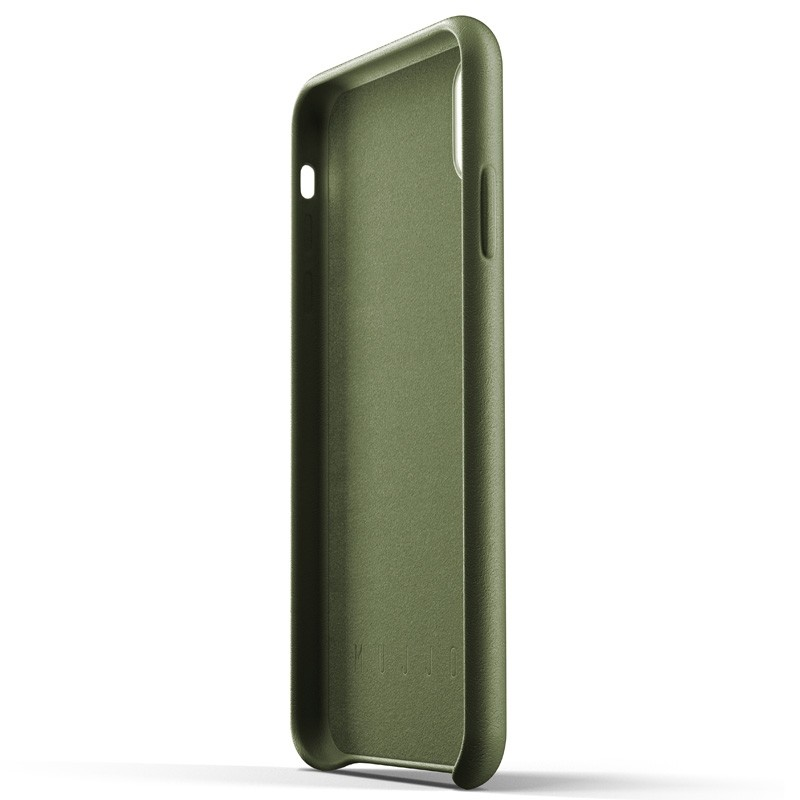 Mujjo Full Leather Case iPhone XS Max olijfgroen 05