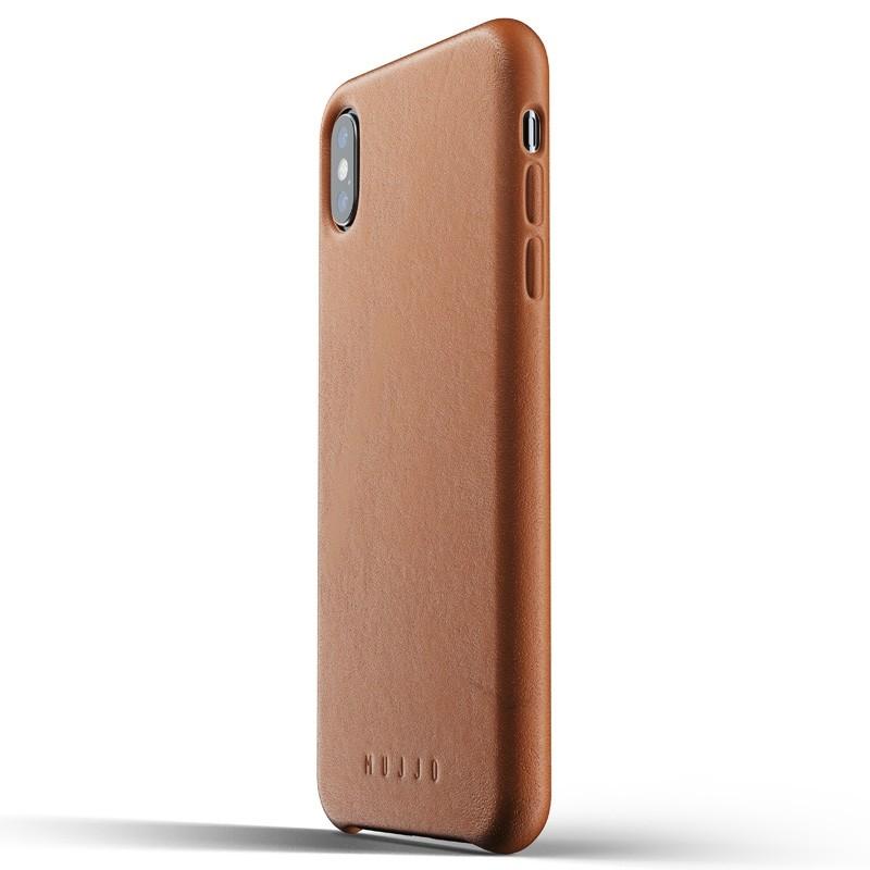 Mujjo Full Leather Case iPhone XS Max tan bruin 01