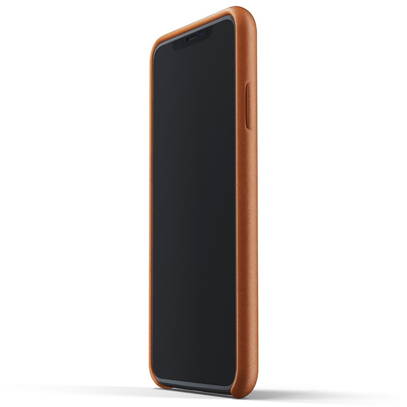 Mujjo Full Leather Case iPhone XS Max tan bruin 02