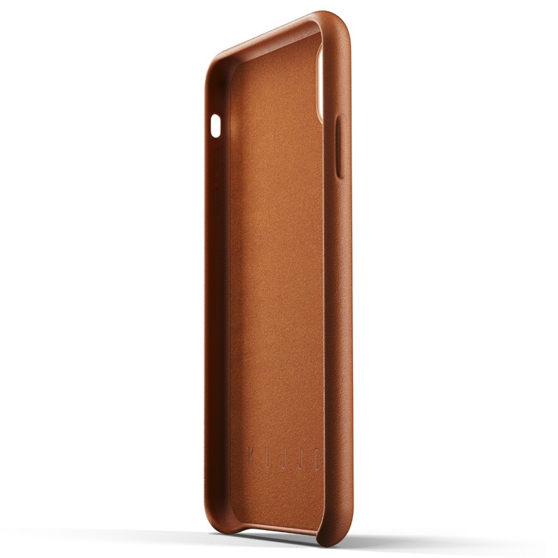 Mujjo Full Leather Case iPhone XS Max tan bruin 05
