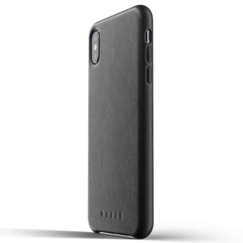 Mujjo Full Leather Case iPhone XS Max zwart 01