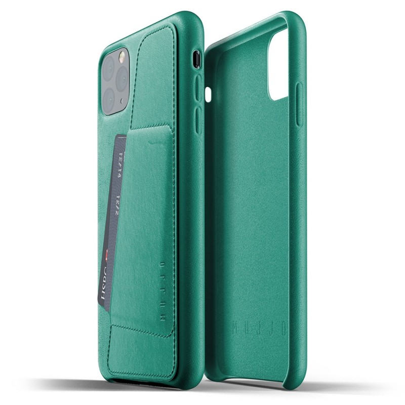 Mujjo Full Leather Wallet iPhone 11 Pro Max alpine green - 2