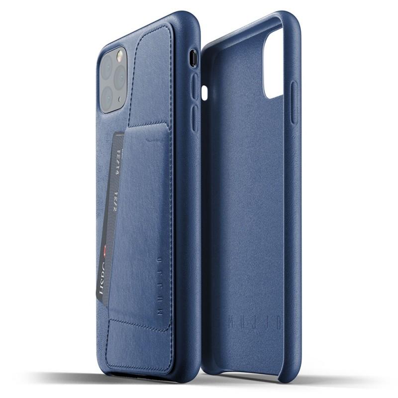 Mujjo Full Leather Wallet iPhone 11 Pro Max monaco blue - 2