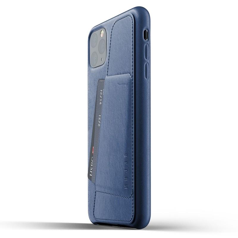 Mujjo Full Leather Wallet iPhone 11 Pro Max monaco blue - 3