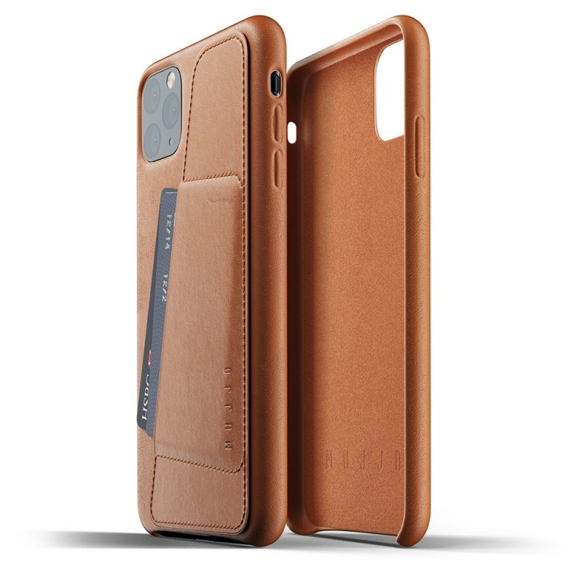 Mujjo Full Leather Wallet iPhone 11 Pro Max bruin - 2