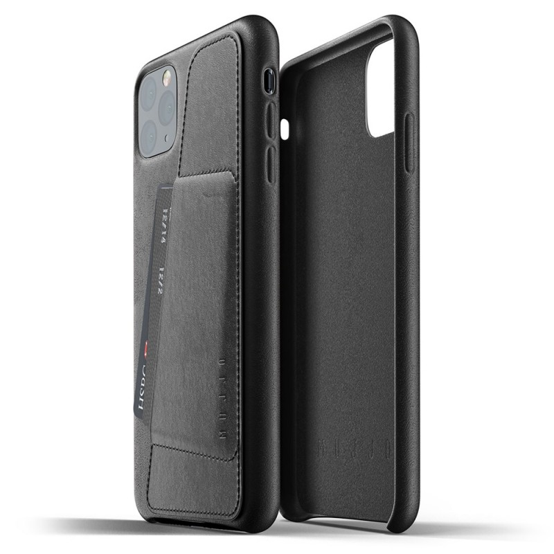 Mujjo Full Leather Wallet iPhone 11 Pro Max zwart - 2