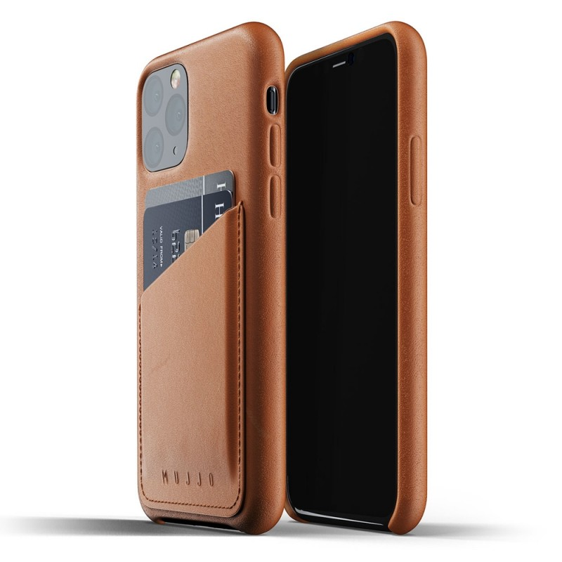 Mujjo Full Leather Wallet iPhone 11 Pro bruin - 1