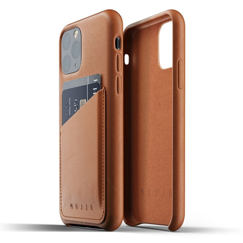Mujjo Full Leather Wallet iPhone 11 Pro bruin - 2