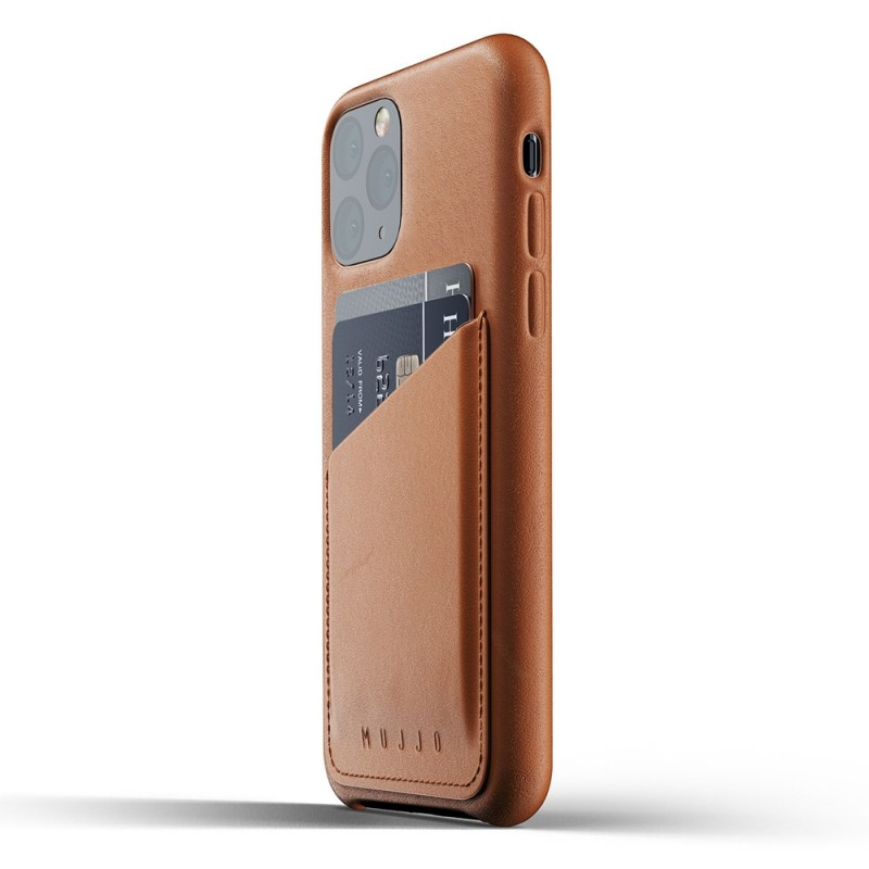 Mujjo Full Leather Wallet iPhone 11 Pro bruin - 3